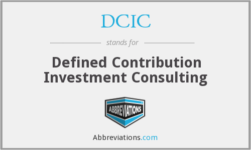 DCIC - Defined Contribution Investment Consulting