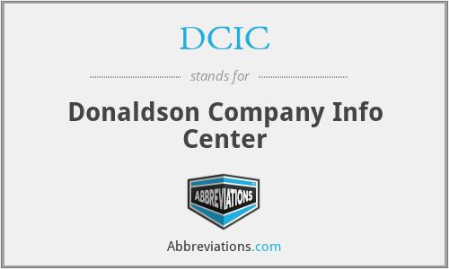 DCIC - Donaldson Company Info Center