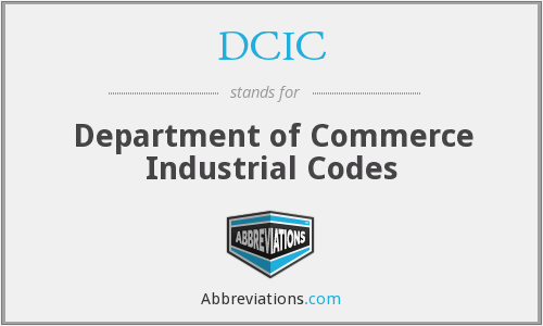 DCIC - Department of Commerce Industrial Codes