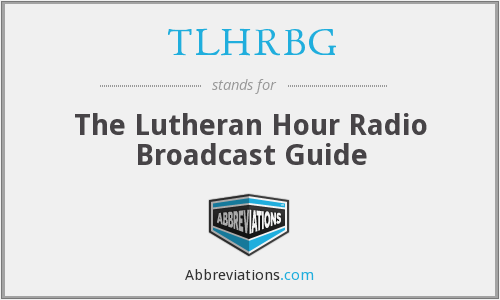 What does TLHRBG stand for?