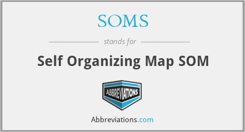 SOMS - Self Organizing Map SOM