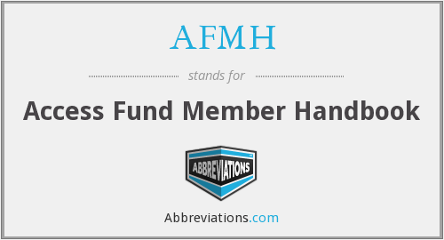 What does AFMH stand for?