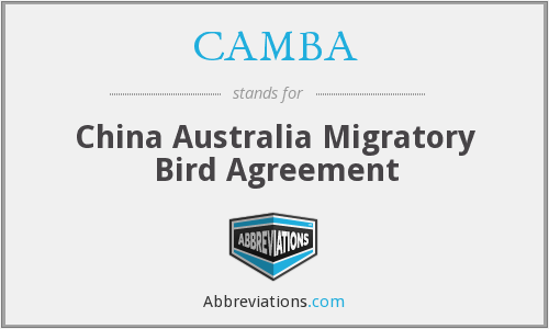 CAMBA - China Australia Migratory Bird Agreement