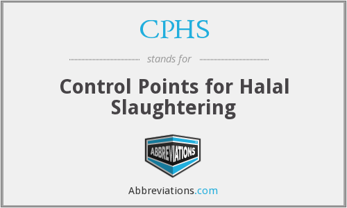 CPHS - Control Points for Halal Slaughtering