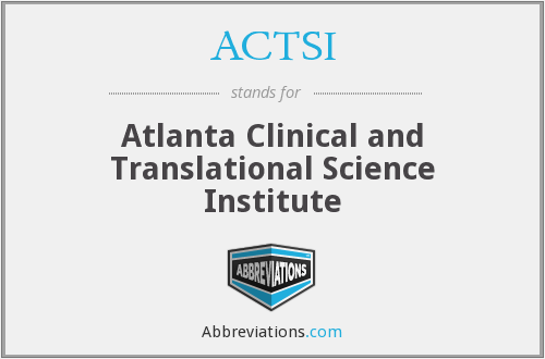 What does ACTSI stand for?