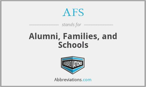 AFS - Alumni, Families, and Schools