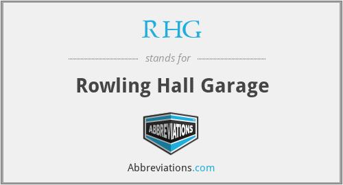 RHG - Rowling Hall Garage