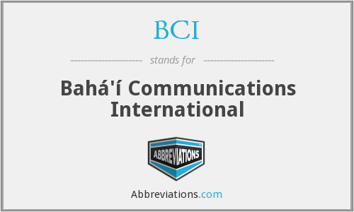 BCI - Bahá'í Communications International