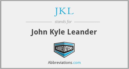 JKL - John Kyle Leander