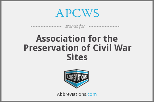 APCWS - Association for the Preservation of Civil War Sites