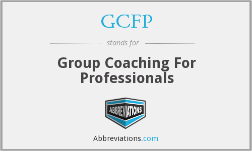 GCFP - Group Coaching For Professionals