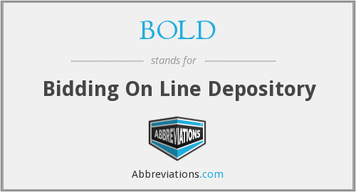 BOLD - Bidding On Line Depository