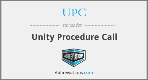 What does UPC stand for?