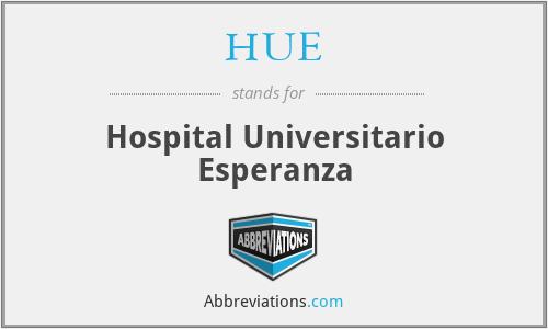 HUE - Hospital Universitario Esperanza