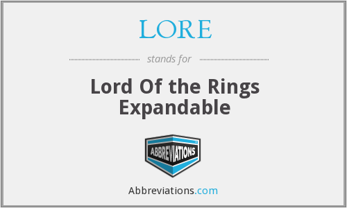 LORE - Lord Of the Rings Expandable