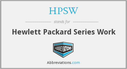 What does HPSW stand for?
