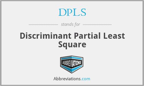 DPLS - Discriminant Partial Least Square
