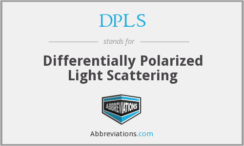 DPLS - Differentially Polarized Light Scattering