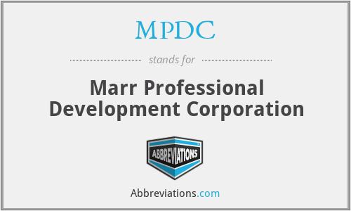 MPDC - Marr Professional Development Corporation