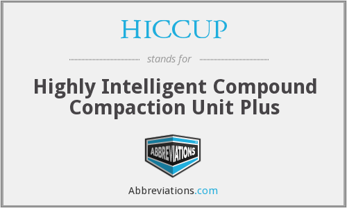 HICCUP - Highly Intelligent Compound Compaction Unit Plus