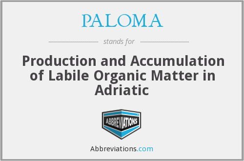 PALOMA - Production and Accumulation of Labile Organic Matter in Adriatic