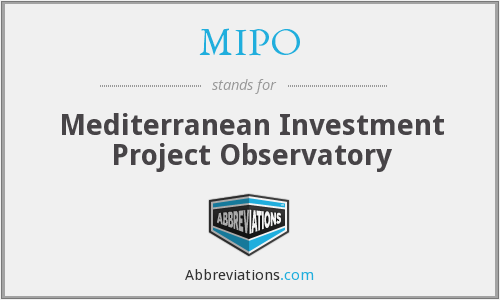 MIPO - Mediterranean Investment Project Observatory