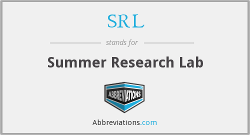 SRL - Summer Research Lab