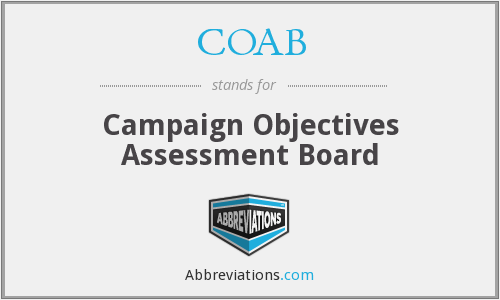 COAB - Campaign Objectives Assessment Board