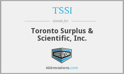What does TSSI stand for?