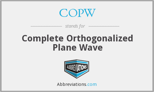 COPW - Complete Orthogonalized Plane Wave