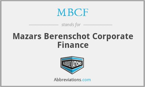 MBCF - Mazars Berenschot Corporate Finance
