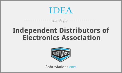 IDEA - Independent Distributors of Electronics Association