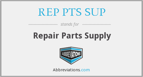 What does REP PTS SUP stand for?