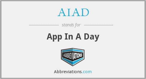 AIAD - App In A Day