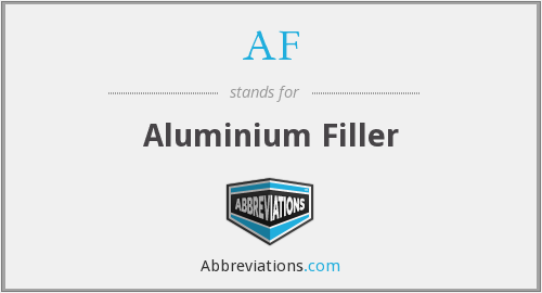 AF - Aluminium Filler