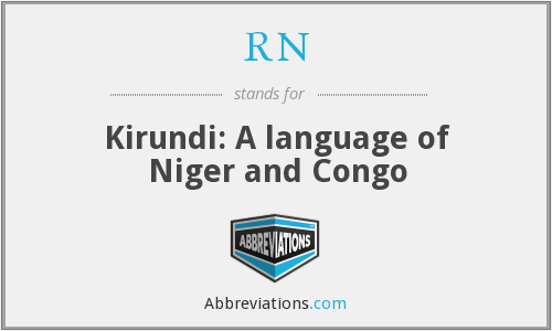 RN - Kirundi: A language of Niger and Congo