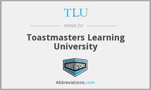 TLU - Toastmasters Learning University
