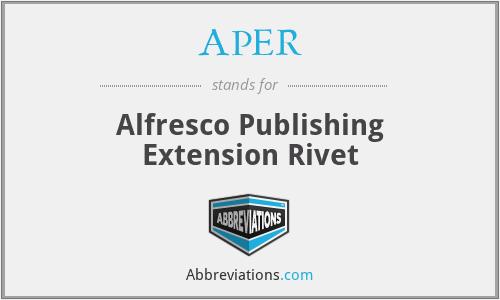 APER - Alfresco Publishing Extension Rivet