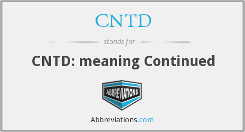 What does CNTD stand for?