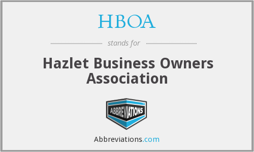 What does HBOA stand for?