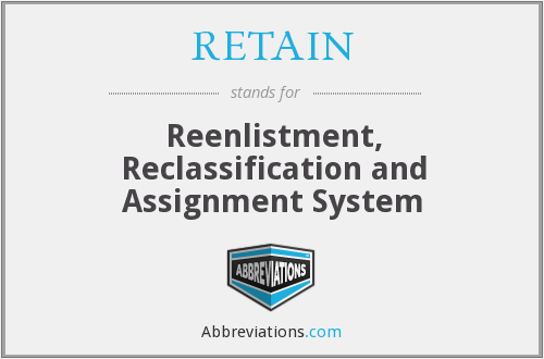 RETAIN - Reenlistment, Reclassification and Assignment System