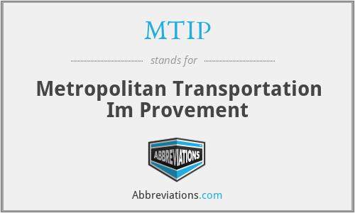 MTIP - Metropolitan Transportation Im Provement