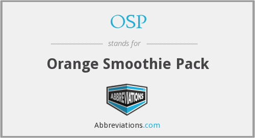 OSP - Orange Smoothie Pack