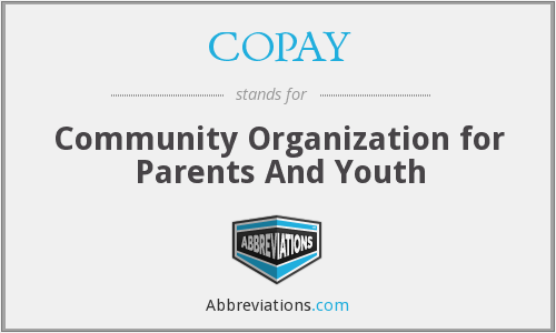 COPAY - Community Organization for Parents And Youth
