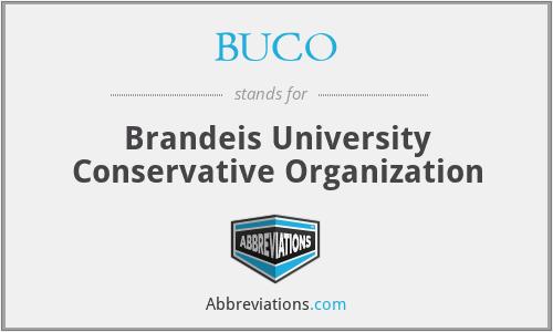 BUCO - Brandeis University Conservative Organization