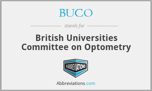 BUCO - British Universities Committee on Optometry