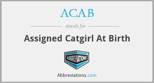 ACAB - Assigned Catgirl At Birth