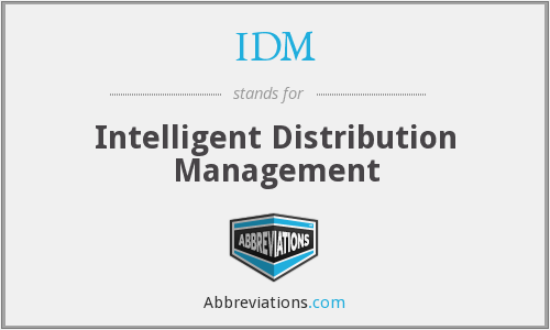 IDM - Intelligent Distribution Management