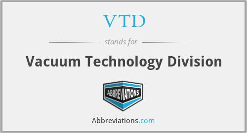 VTD - Vacuum Technology Division