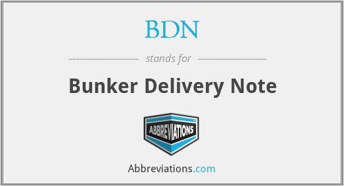 BDN - Bunker Delivery Note
